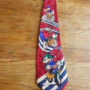 vintage mickey silk tie